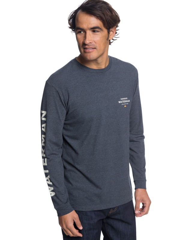 0 Waterman Righty Long Sleeve Tee Black AQMZT03315 Quiksilver