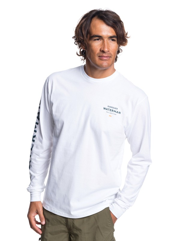 0 Waterman Righty Long Sleeve Tee White AQMZT03315 Quiksilver