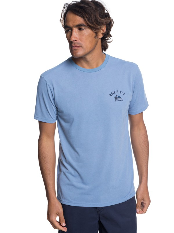 0 Men's Stacked Up Tee Blue AQMZT03316 Quiksilver