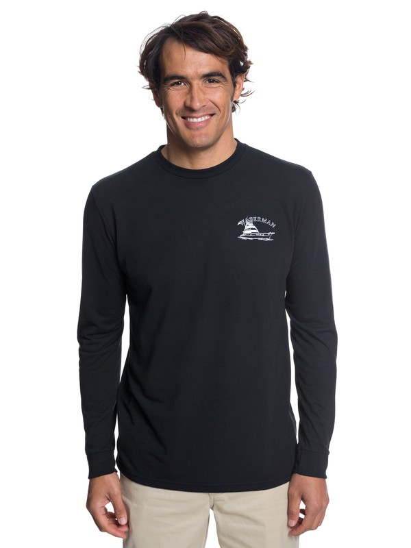 0 Waterman Lauderdale Long Sleeve T-Shirt Black AQMZT03318 Quiksilver