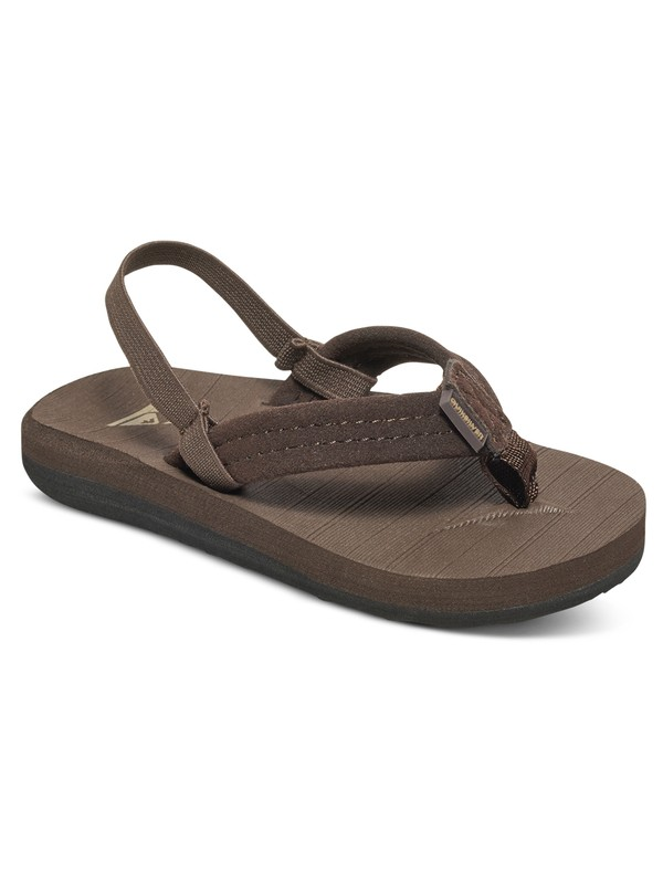 0 Boy's 2-7 Carver Suede Sandals Brown AQTL100003 Quiksilver
