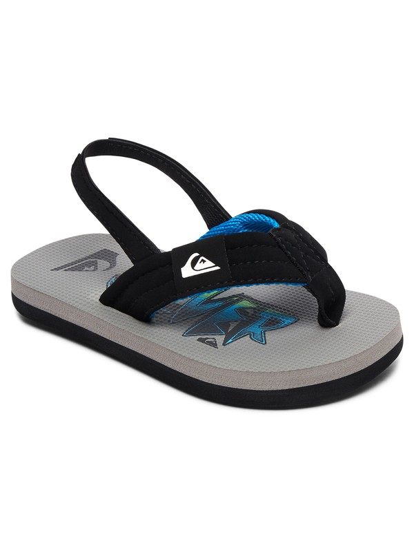 0 Boy's 2-7 Molokai Layback Sandals Black AQTL100056 Quiksilver
