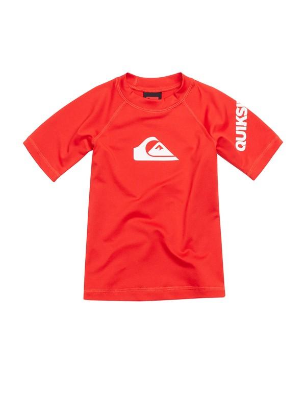 0 Boys 2-4 All Time Short Sleeve Rashguard Red AQTWR00008 Quiksilver