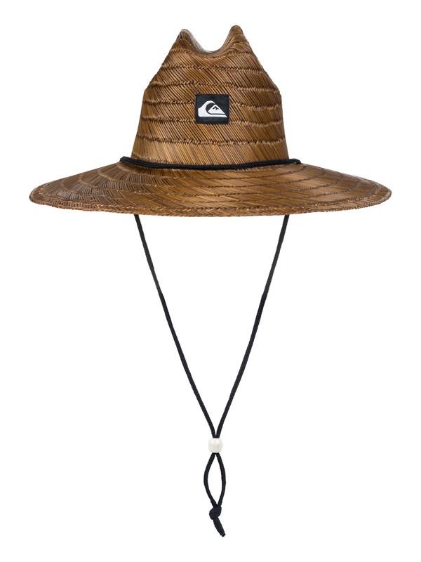 0 Pierside - Straw Lifeguard Hat Brown AQYHA00145 Quiksilver