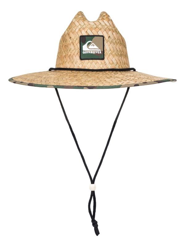0 Outsider Straw Lifeguard Hat Brown AQYHA03218 Quiksilver