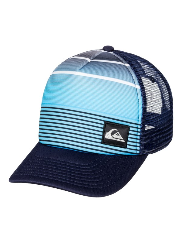 0 Striped Out Trucker Hat  AQYHA03512 Quiksilver
