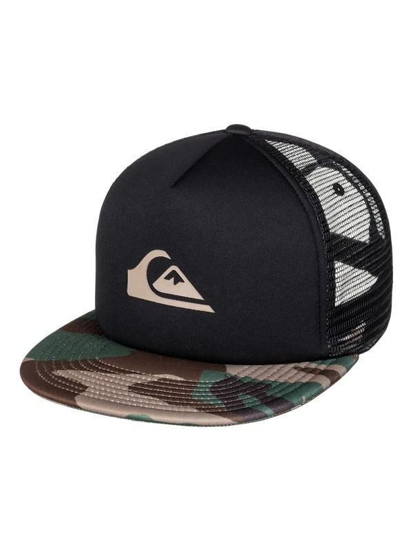 0 Snap Addict Trucker Hat Green AQYHA03528 Quiksilver