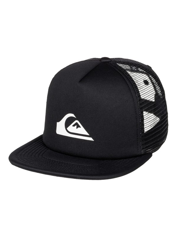 0 Snap Addict Trucker Hat Black AQYHA03528 Quiksilver