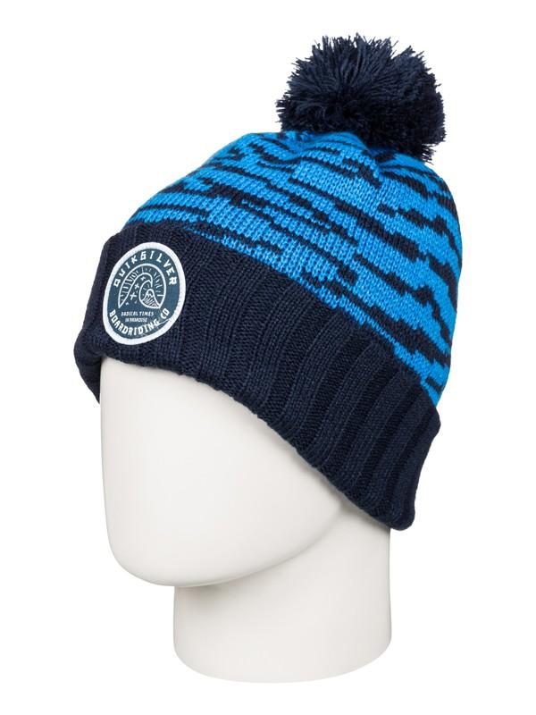 0 Brockhill - Bonnet à pompon Bleu AQYHA03564 Quiksilver