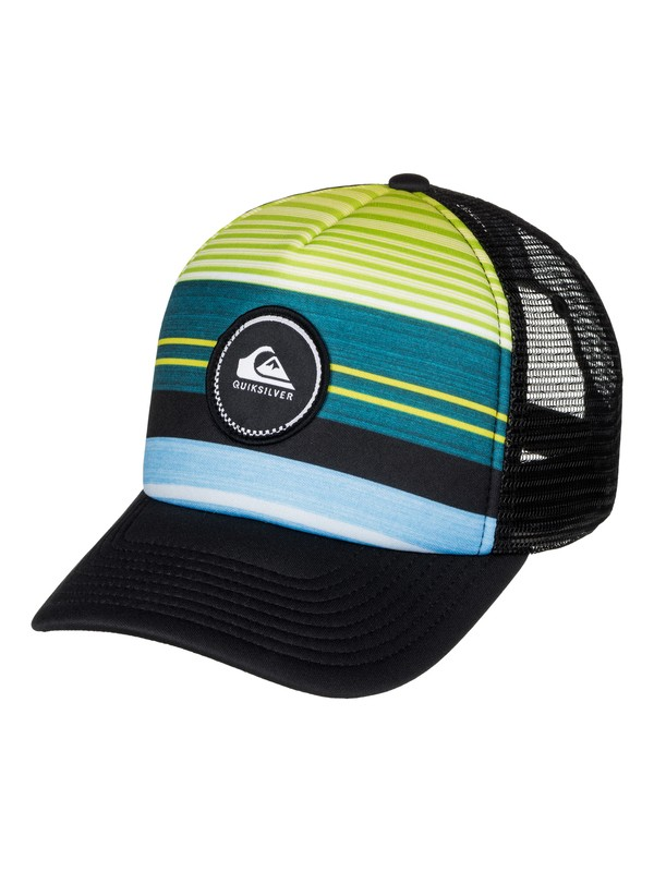 0 Striped Vee Trucker Hat  AQYHA03727 Quiksilver