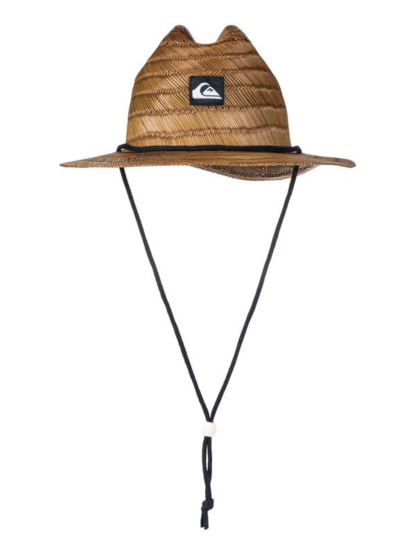 0 Pierside Slim Straw Lifeguard Hat Brown AQYHA03741 Quiksilver