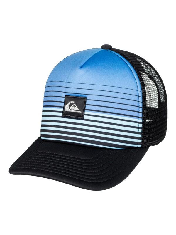 0 Stripe Block Trucker Hat Blue AQYHA03851 Quiksilver