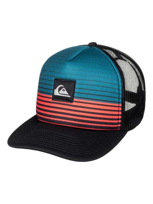0 Stripe Block Trucker Hat  AQYHA03851 Quiksilver