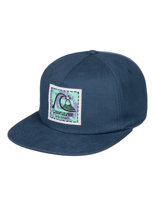0 Never Say Dye Trucker Hat Blue AQYHA03872 Quiksilver