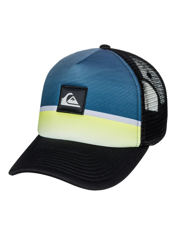 0 Men's Stripe Downer Trucker Hat  AQYHA03932 Quiksilver