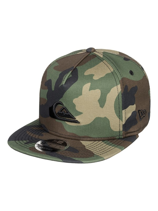 0 Stuckles Snap Snapback Hat Green AQYHA03989 Quiksilver