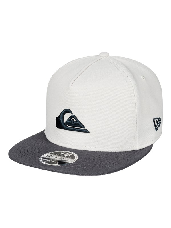 0 Stuckles Snap Snapback Hat White AQYHA03989 Quiksilver