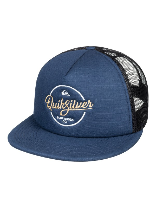 0 Turnstyles - Trucker Cap for Men Blue AQYHA03993 Quiksilver