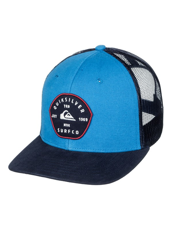 0 Blocked Out - Cappellino Trucker da Uomo Blue AQYHA03998 Quiksilver