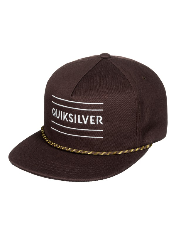 0 Fold Snapper - Snapback Cap Brown AQYHA04001 Quiksilver