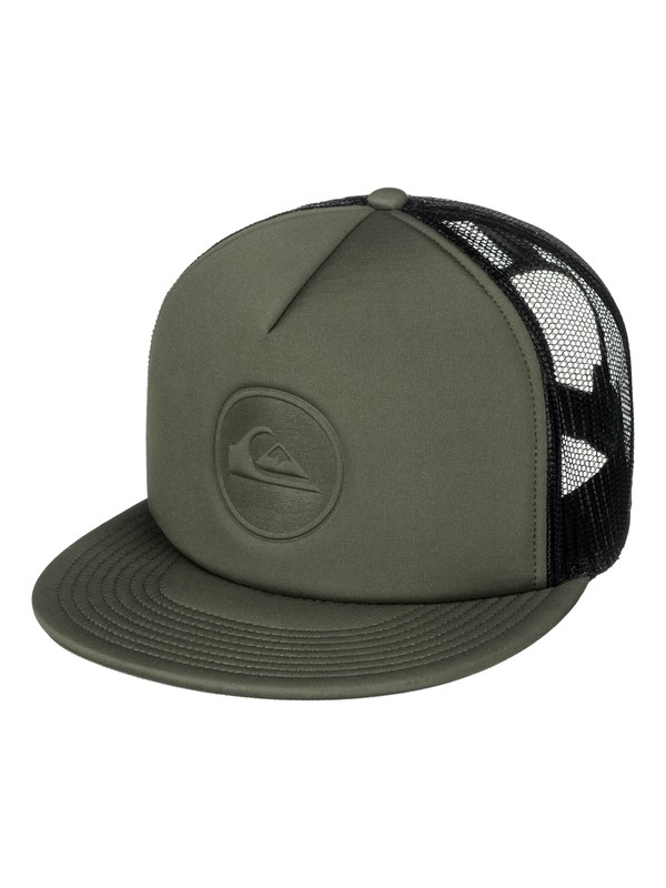 0 Pressure Snap Trucker Hat Brown AQYHA04034 Quiksilver