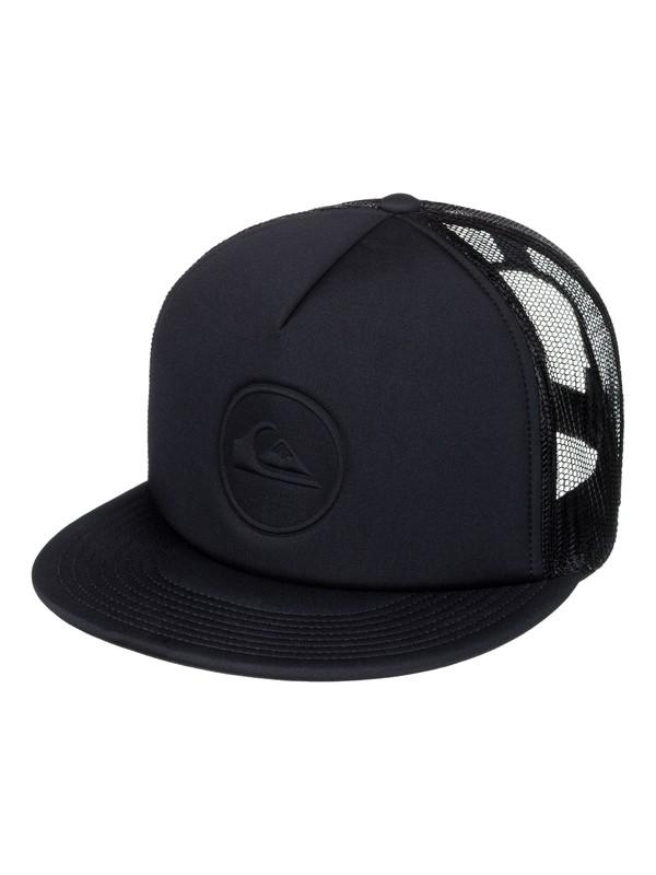 0 Pressure Snap Trucker Hat Black AQYHA04034 Quiksilver