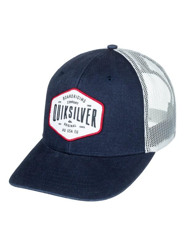 0 Steel Hander Trucker Hat Blue AQYHA04062 Quiksilver