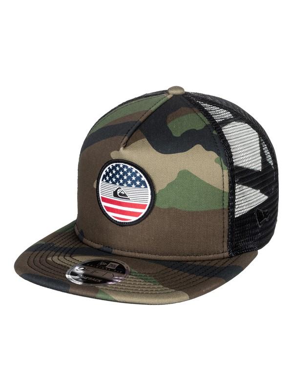 0 Flag Trucker Hat  AQYHA04068 Quiksilver