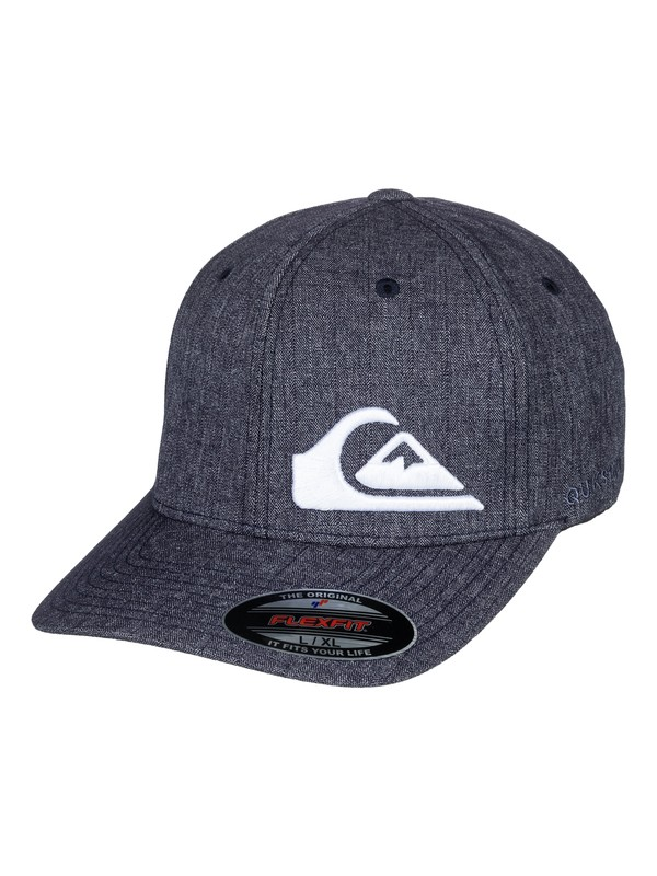 0 Final Flexfit Hat Blue AQYHA04069 Quiksilver