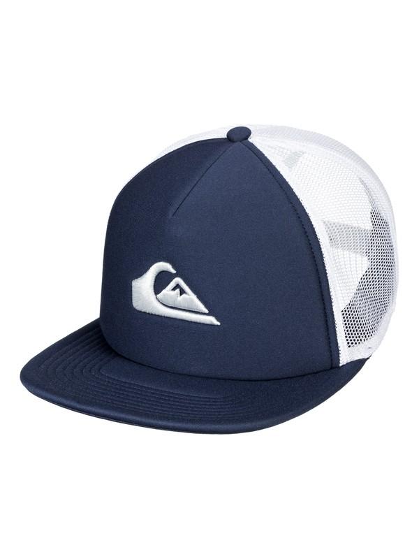 0 Men's All In Trucker Hat Blue AQYHA04073 Quiksilver