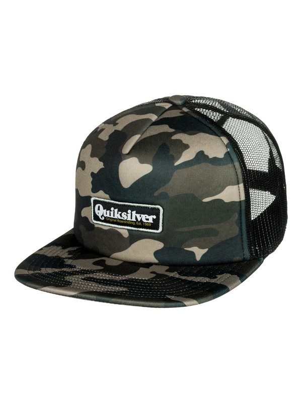 0 Foam Cruster Trucker Hat Green AQYHA04093 Quiksilver