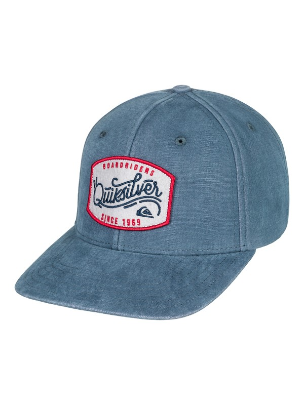 0 Bull Hickey - Snapback Hat Blue AQYHA04098 Quiksilver