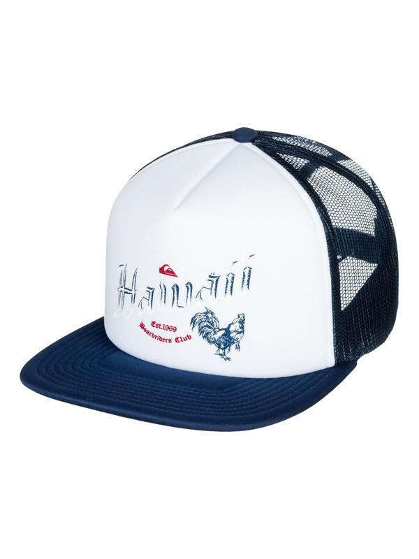 0 Rooster Trucker Hat White AQYHA04103 Quiksilver