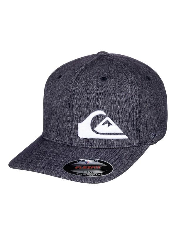 0 Men's Final Flexfit Hat Blue AQYHA04120 Quiksilver
