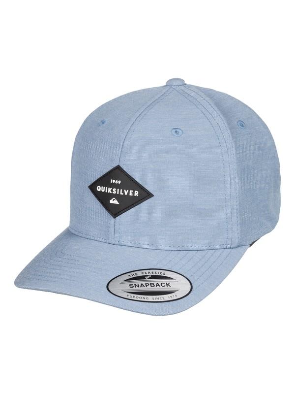 0 Men's Union Heather Snapback Hat Blue AQYHA04126 Quiksilver