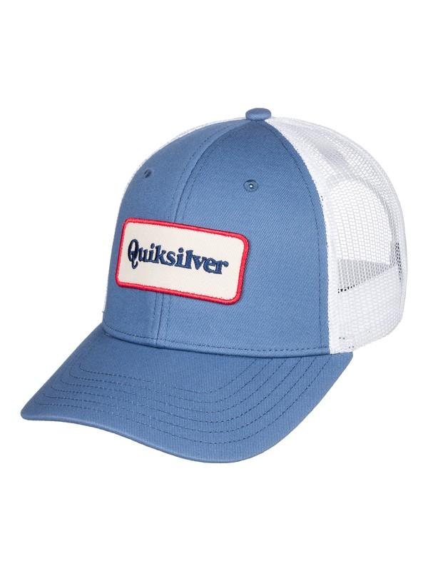 0 Men's Totally Socked trucker Hat Blue AQYHA04132 Quiksilver