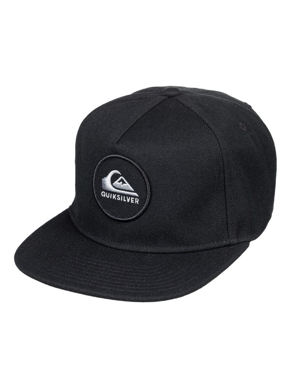 0 Men's Perfect Snap Snapback Hat Black AQYHA04136 Quiksilver