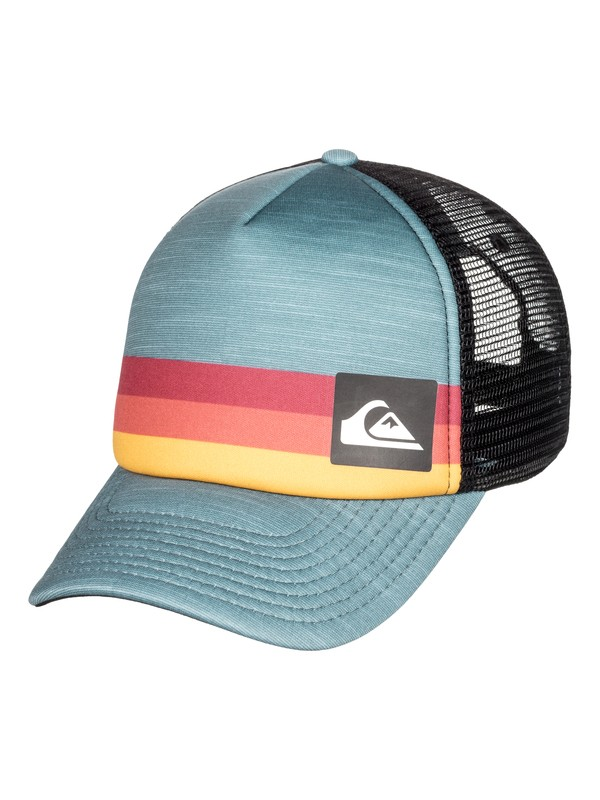 0 Men's Seasons Trucker Hat Blue AQYHA04138 Quiksilver