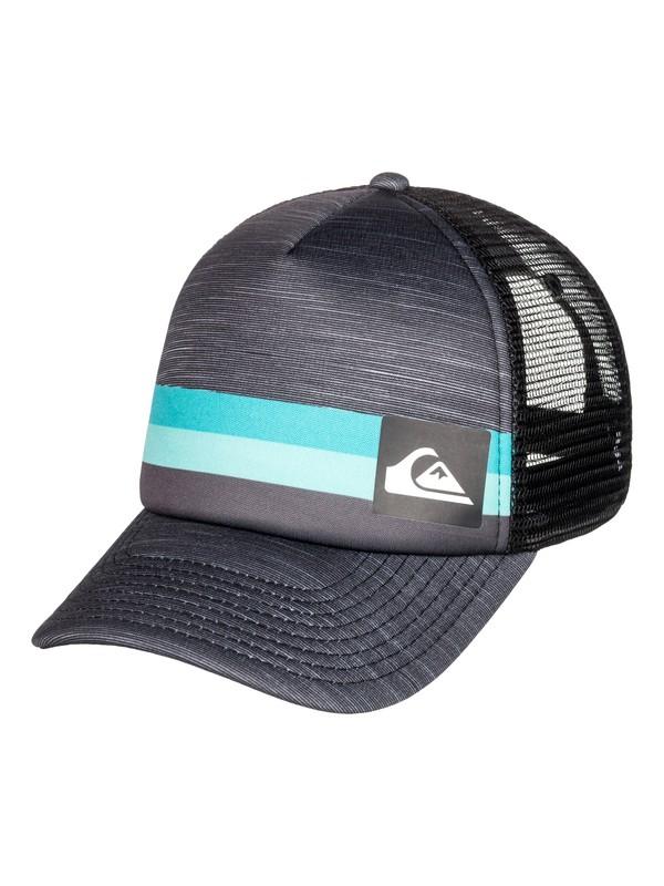 0 Men's Seasons Trucker Hat Black AQYHA04138 Quiksilver