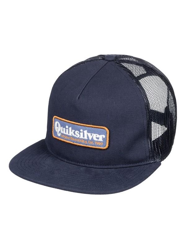 0 Men's Pursey Trucker Hat Blue AQYHA04146 Quiksilver