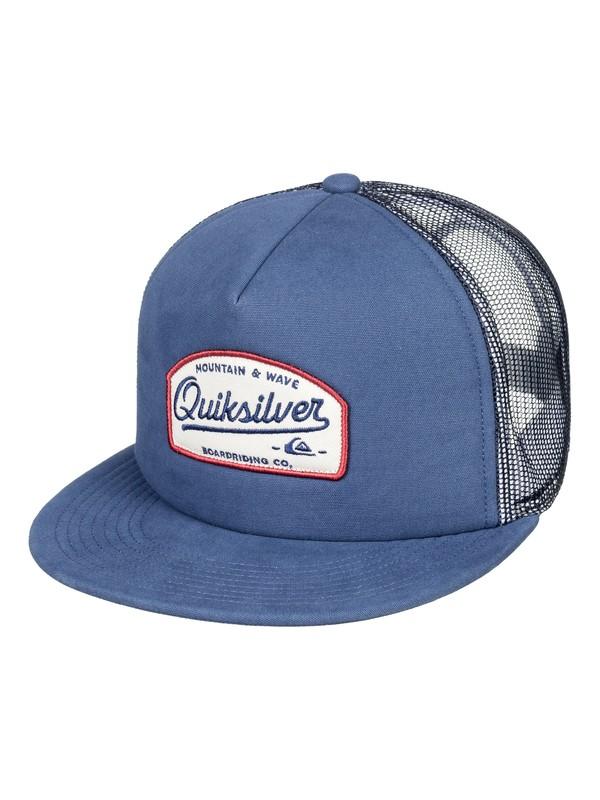 0 Hombres Gorra Trucker Past Checker Azul AQYHA04159 Quiksilver