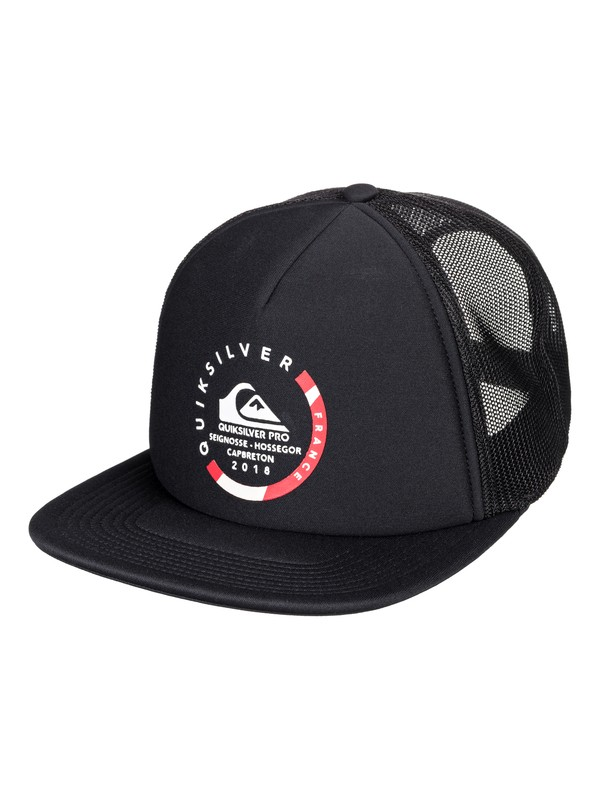 0 Quik Pro France - Trucker Hat for Men Black AQYHA04170 Quiksilver