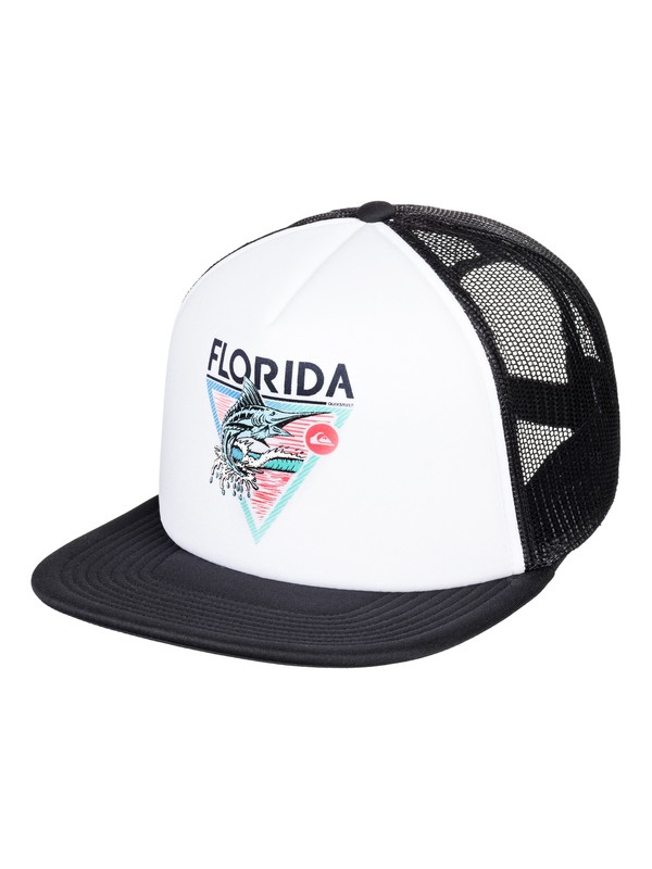 0 Men's Florida Fish Trucker Hat  AQYHA04185 Quiksilver