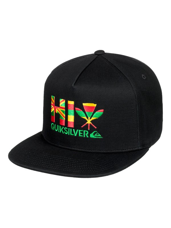 0 State High Snapback Hat Black AQYHA04191 Quiksilver