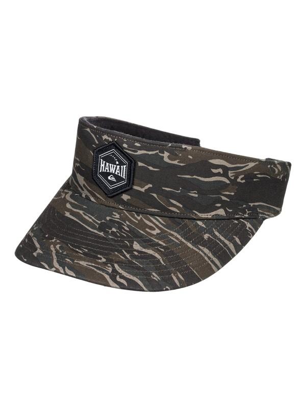 0 Men's Tradewind Visor Hat Green AQYHA04192 Quiksilver