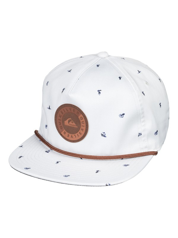 0 Envy Death Snapback Hat White AQYHA04205 Quiksilver
