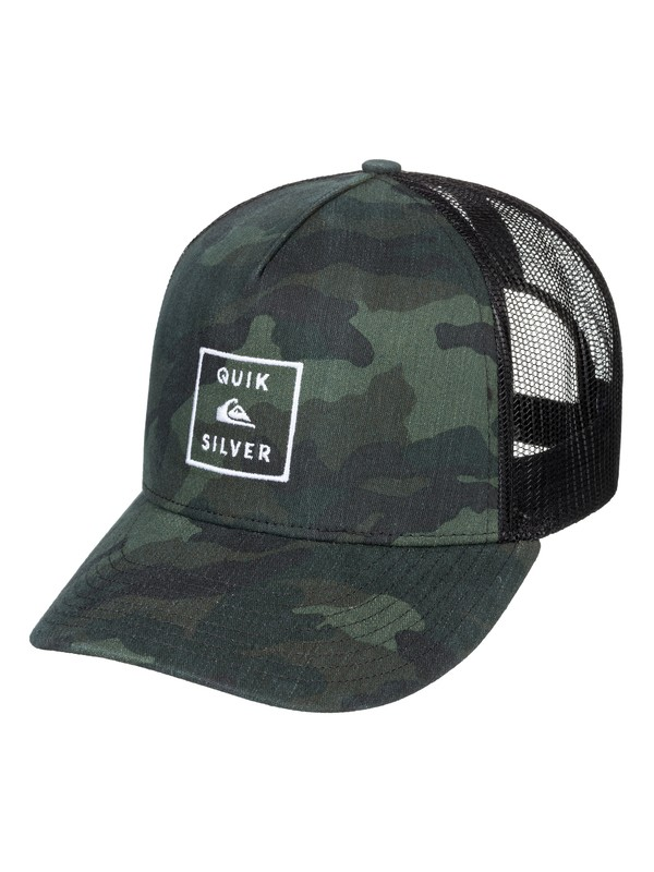 0 Clipster Snapback Hat Green AQYHA04220 Quiksilver