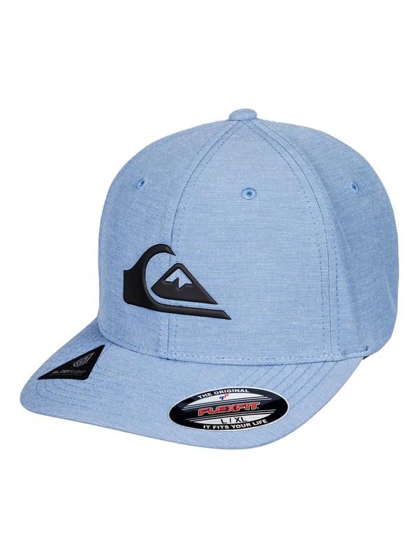 0 Amphib Texture Flexfit Hat Blue AQYHA04223 Quiksilver