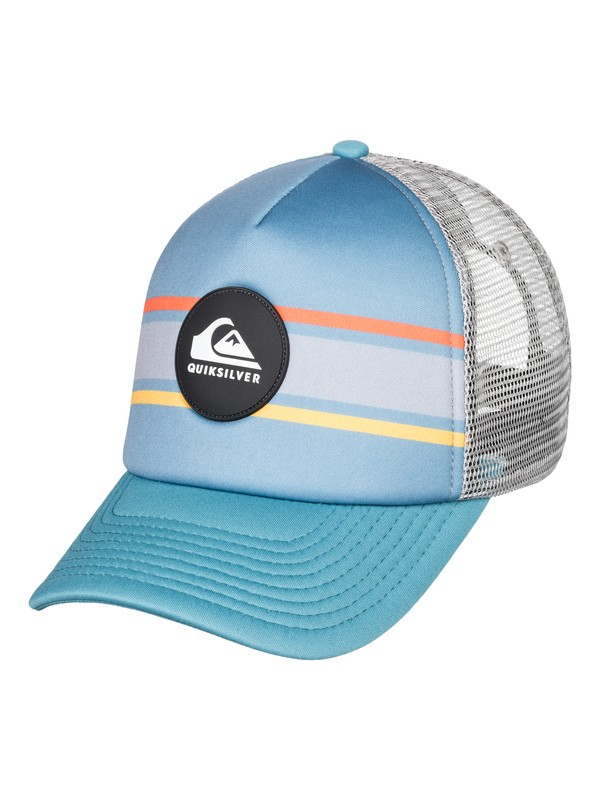 0 Seasons Debate Trucker Hat Blue AQYHA04301 Quiksilver