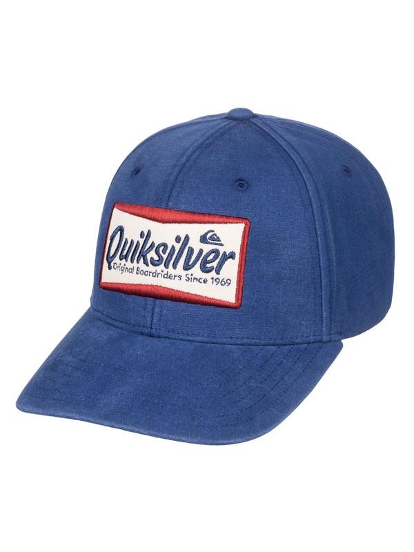 0 Smoko Snapback Hat Blue AQYHA04307 Quiksilver